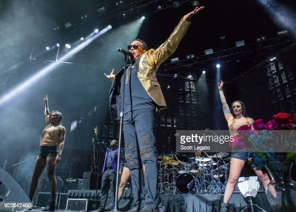 Charlie Wilson of The Gap Band performs at Little Caesars Arena on February 21 2018 in Detroit Michigan