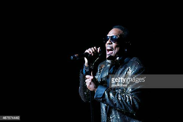 Charlie Wilson performs at Nokia Theatre LA Live on March 25 2015 in Los Angeles California