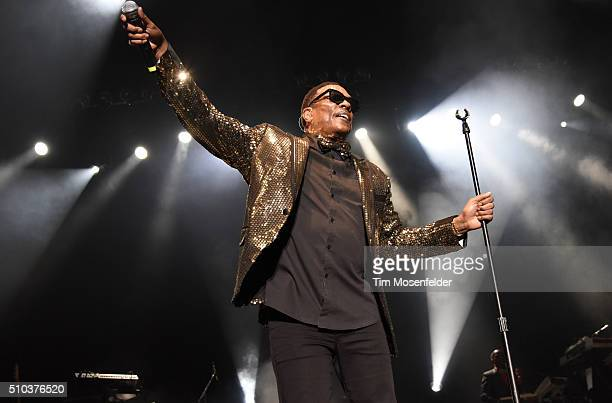Charlie Wilson performs during KBLX's Legends Of Love concert at ORACLE Arena on February 14 2016 in Oakland California