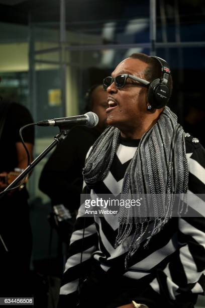 Charlie Wilson Performs Live On SiriusXM Performance To Air On SiriusXM's Heart Soul Channel at SiriusXM Studios on February 9 2017 in New York City