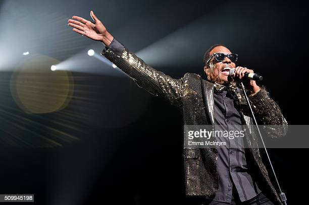 Charlie Wilson performs onstage at the Shrine Auditorium on February 12 2016 in Los Angeles California