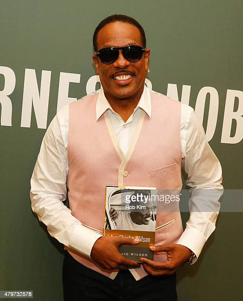 Charlie Wilson promotes his new book 'I Am Charlie Wilson' at Barnes Noble Tribeca on July 6 2015 in New York City