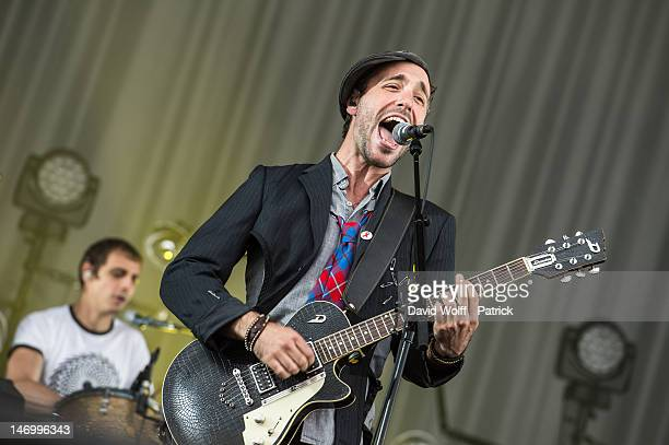 Charlie Winston performs at Festival Solidays at Hippodrome de Longchamp on June 24 2012 in Paris France
