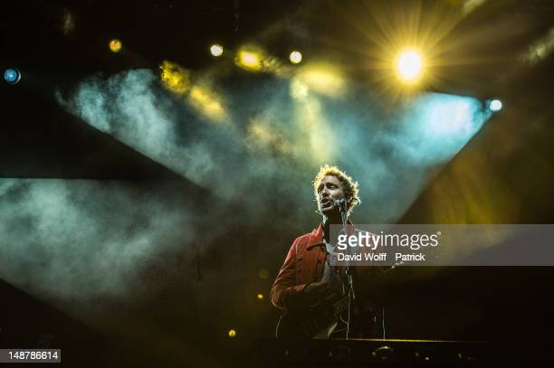 Charlie Winston performs at the Fnac Live Festival 2012 at Parvis De L'Hotel de Ville on July 19 2012 in Paris France