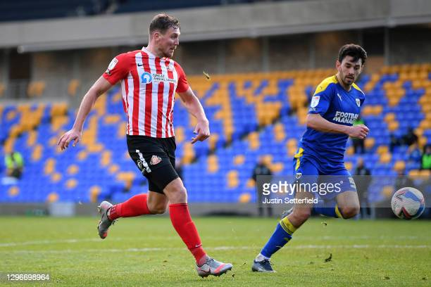 Charlie Wyke of Sunderland scores the 3rd goal during the Sky Bet League One match between AFC Wimbledon and Sunderland at Plough Lane on January 16,...