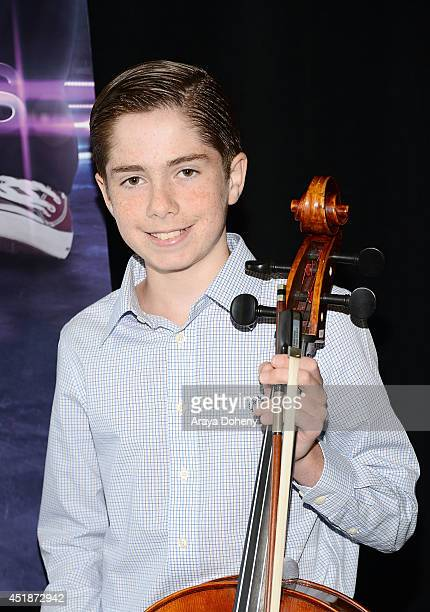 Charlie Zandieh poses backstage for the Ovation TV's 'Young Marvels' panel of the 2014 Summer Television Critics Association at The Beverly Hilton...