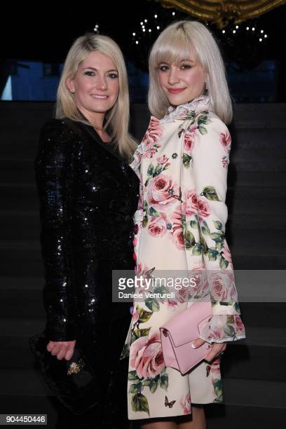 CharlieAnn Lott and Pixie Lott attend the Dolce Gabbana show during Milan Men's Fashion Week Fall/Winter 2018/19 on January 13 2018 in Milan Italy