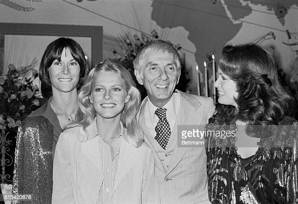 Charlie's Angels are in real life Aaron Spelling's Angels and the three girls are pictured with their boss following the showing of Spelling's new...