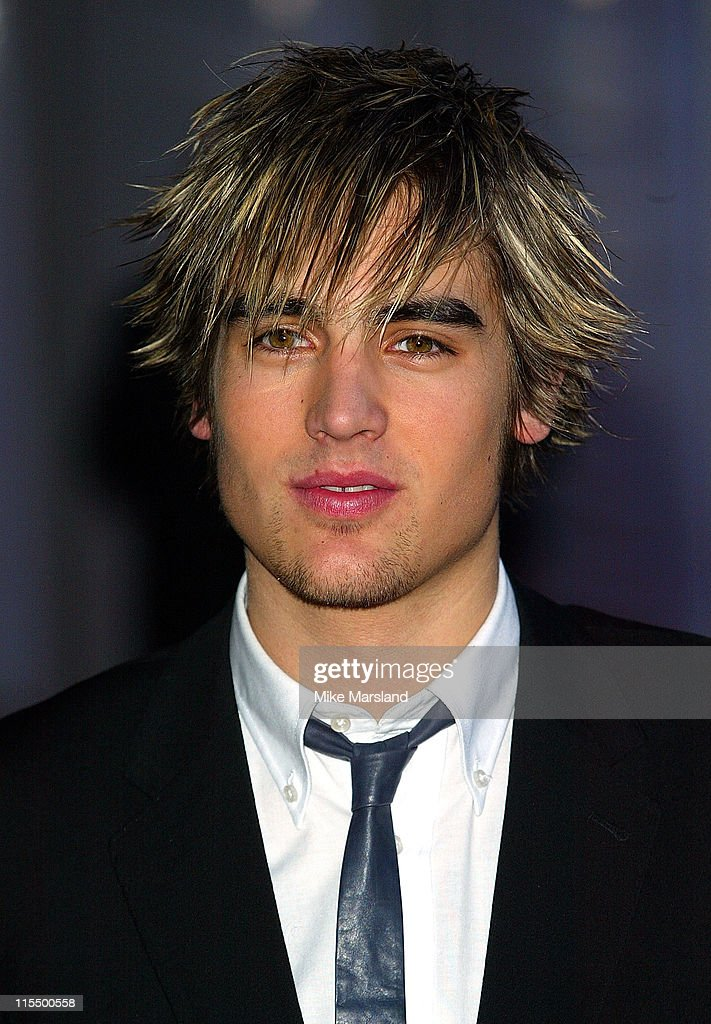 Charlies from Busted during The 2004 Brit Awards - Arrivals at Earls Court in London, Great Britain.