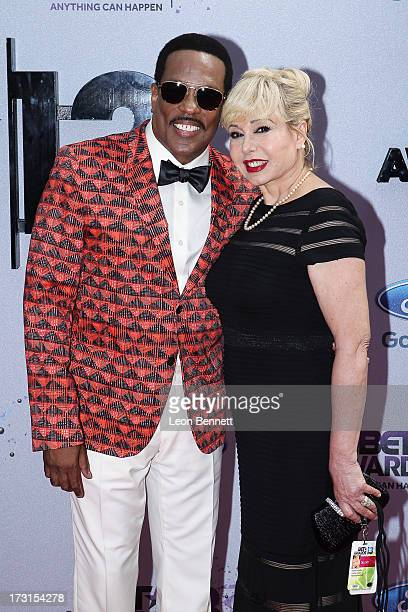 Charlies Wilson and Mahin Wilson arrives at the 2013 BET Awards Make A Wish Arrivals at Nokia Plaza LA LIVE on June 30 2013 in Los Angeles California
