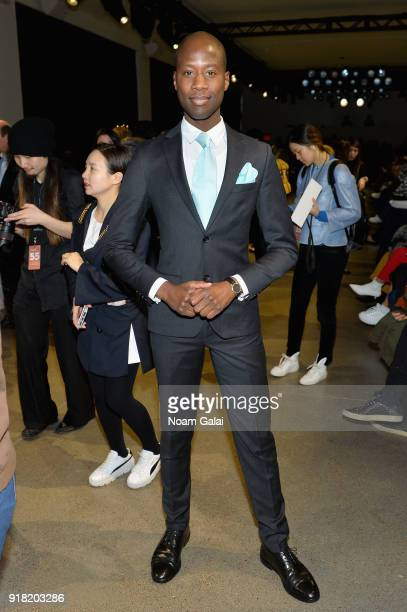 Charlii Sebunya attends the All Comes From Nothing x COOME FW18 show at Gallery II at Spring Studios on February 14 2018 in New York City