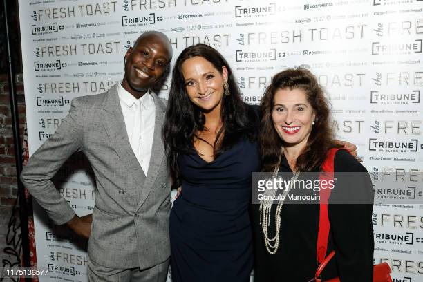 Charlii Sebunya Emma SnowdonJones and Dolly Fox attend The Fresh Toast Celebration Event at TAO Downtown on October 7 2019 in New York City