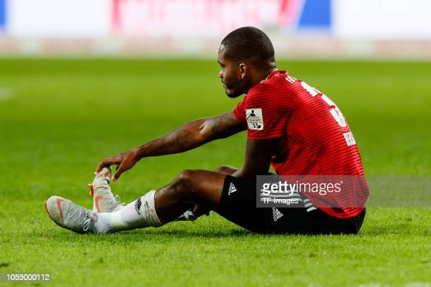 Charlison Benschop of FC Ingolstadt on the ground during the Second Bundesliga match between FC Ingolstadt 04 and 1 FC Union Berlin at Audi Sportpark...