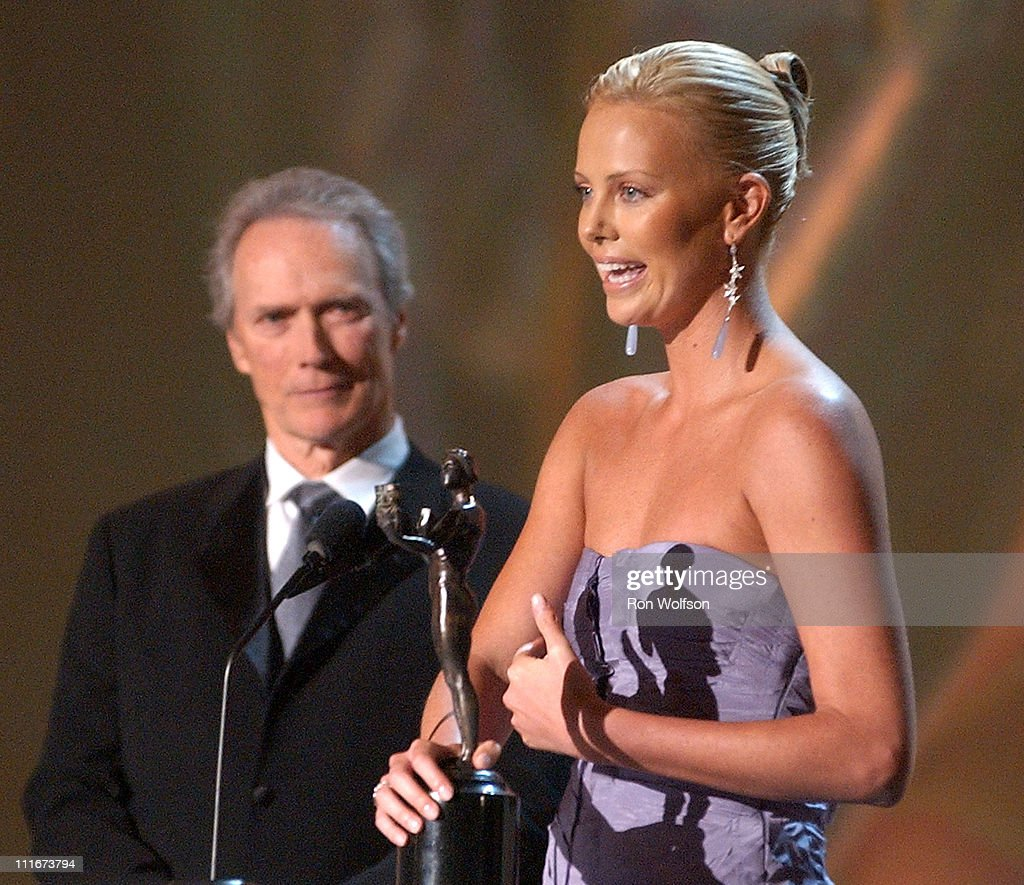 Charlize Theron accepts for Outstanding Female Actor in a Leading Role in a Motion Picture Award for 'Monster'
