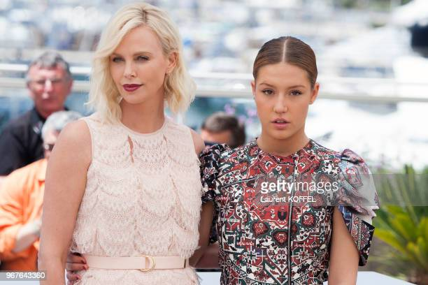 Charlize Theron and Adele Exarchopoulos attend 'The Last Face' Photocall during the 69th annual Cannes Film Festival at the Palais des Festivals on...
