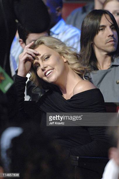 Charlize Theron and Anthony Kiedis during 2005 Spike TV Video Game Awards Backstage and Audience at Gibson Amphitheater in Universal City California...