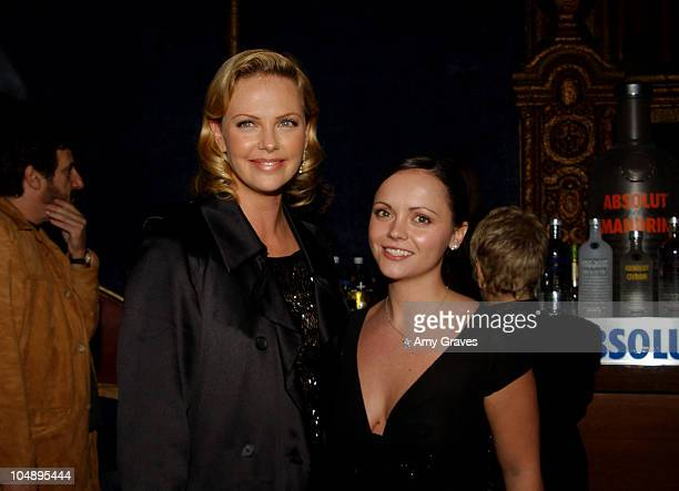 """Charlize Theron and Christina Ricci during Closing Night Of AFI Fest 2003 - """"Monster"""" World Premiere - After-Party at Cinerama Dome at ArcLight..."""