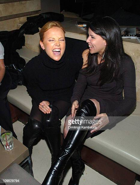 Charlize Theron and director Patty Jenkins during Gotham and Los Angeles Confidental Magazine Presents 'Monster' Premiere New York After Party at...