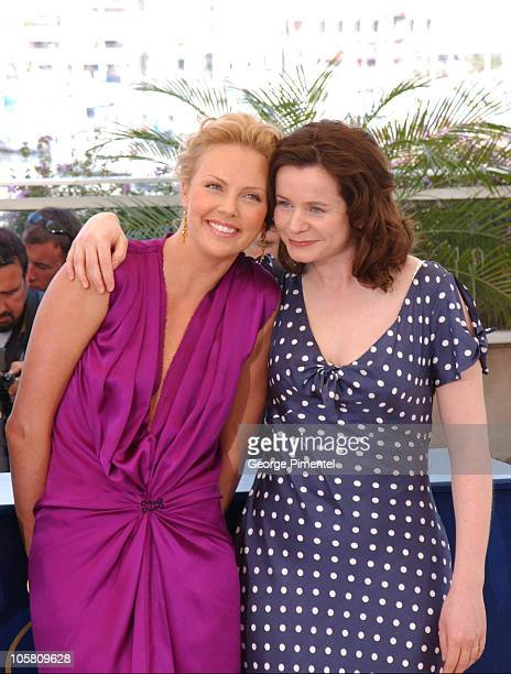 "Charlize Theron and Emily Watson during 2004 Cannes Film Festival - ""The Life and Death of Peter Sellers"" - Photocall at Palais Du Festival in..."