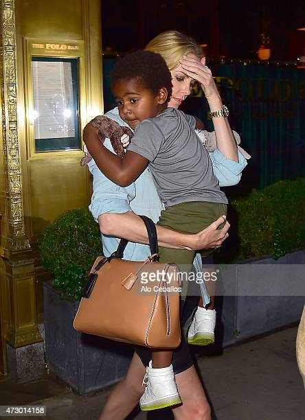 Charlize Theron and Jackson Theron are seen in Midtown on May 11 2015 in New York City