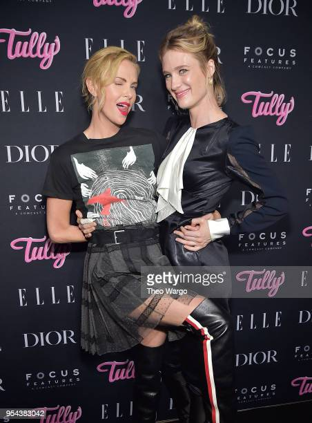Charlize Theron and Mackenzie Davis attend the Tully New York Screening at the Whitby Hotel on May 3 2018 in New York City