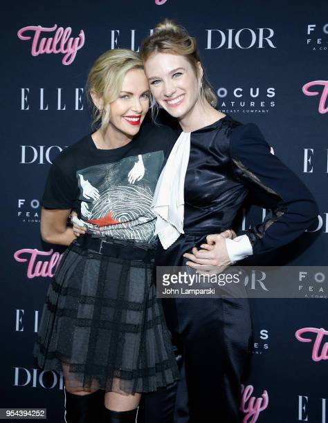 Charlize Theron and Mackenzie Davis attend Tully special screening at the Whitby Hotel on May 3 2018 in New York City
