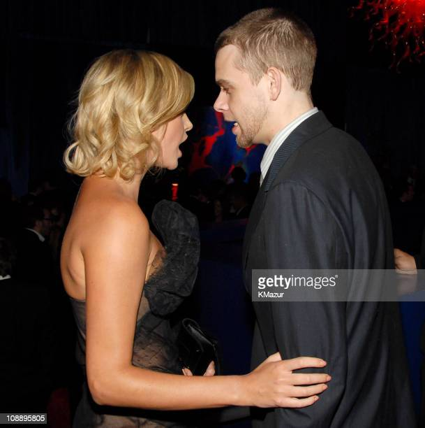 Charlize Theron and Nick Stahl during InStyle & Warner Bros. 2006 Golden Globes After Party - Inside at Beverly Hilton in Beverly Hills, California,...