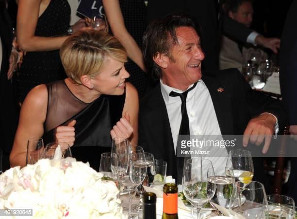 Charlize Theron and Sean Penn attend the 3rd annual Sean Penn Friends HELP HAITI HOME Gala benefiting J/P HRO presented by Giorgio Armani at Montage...