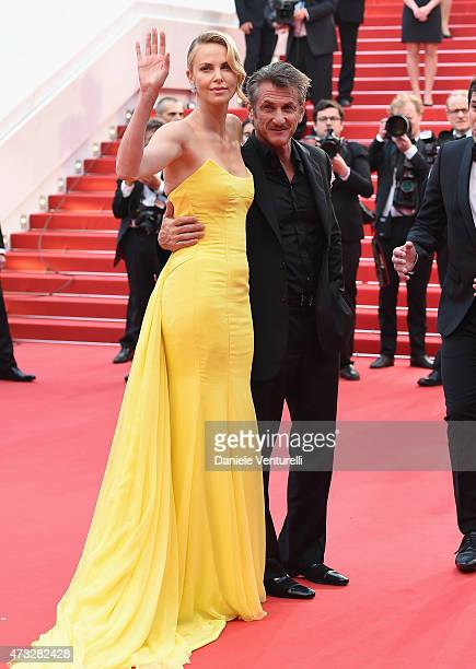"""Charlize Theron and Sean Penn attend the """"Mad Max : Fury Road"""" Premiere during the 68th annual Cannes Film Festival on May 14, 2015 in Cannes, France."""