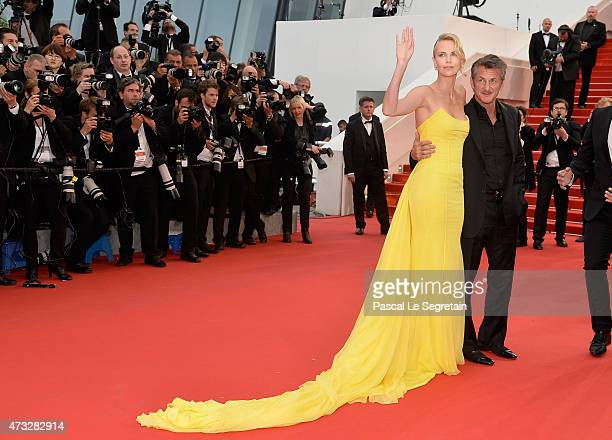 "Charlize Theron and Sean Penn attend the ""Mad Max: Fury Road"" Premiere during the 68th annual Cannes Film Festival on May 14, 2015 in Cannes, France."