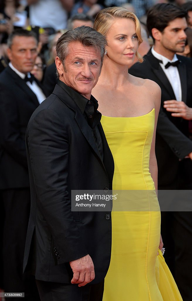 Charlize Theron and Sean Penn attend the 'Mad Max: Fury Road' premiere during the 68th annual Cannes Film Festival on May 14, 2015 in Cannes, France.