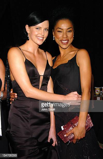 Charlize Theron and Sophie Okonedo during Backstage Creations 2005 Screen Actors Guild Awards The Talent Retreat Day 2 at Shrine Auditorium in Los...