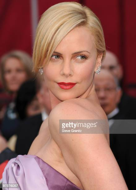 Charlize Theron arrive at the 82nd Annual Academy Awards at the Kodak Theatre on March 7, 2010 in Hollywood, California. On March 7, 2010 in...
