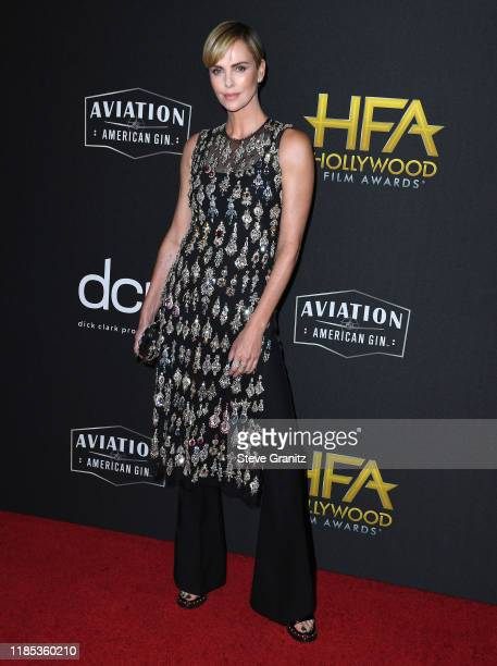 Charlize Theron arrives at the 23rd Annual Hollywood Film Awards at The Beverly Hilton Hotel on November 03 2019 in Beverly Hills California