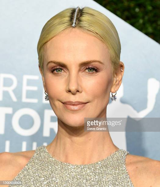 Charlize Theron arrives at the 26th Annual Screen Actors Guild Awards at The Shrine Auditorium on January 19 2020 in Los Angeles California