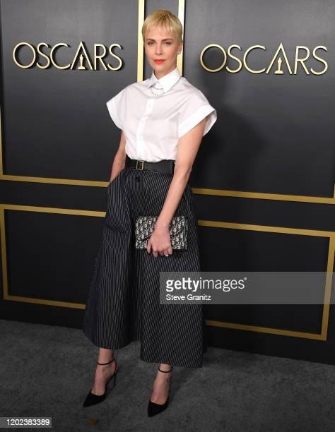 Charlize Theron arrives at the 92nd Oscars Nominees Luncheon on January 27 2020 in Hollywood California