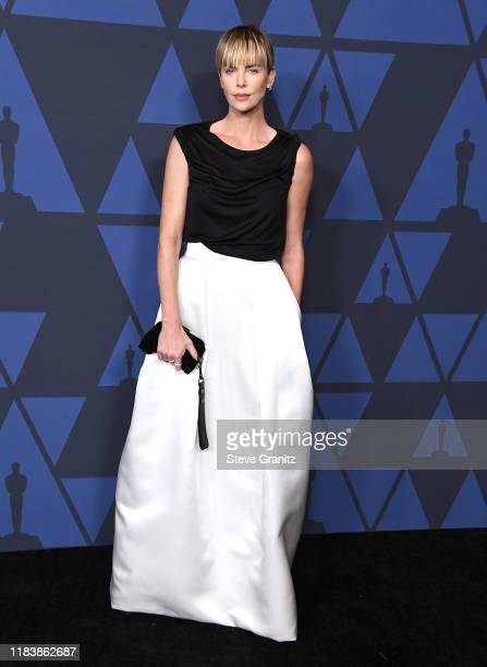 Charlize Theron arrives at the Academy Of Motion Picture Arts And Sciences' 11th Annual Governors Awards at The Ray Dolby Ballroom at Hollywood &...