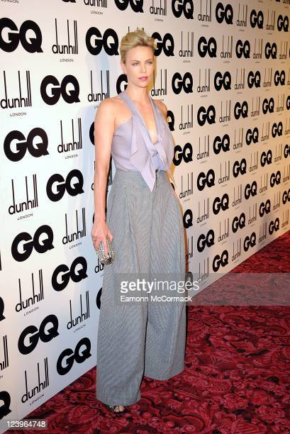 Charlize Theron arrives at the GQ Men Of The Year Awards at The Royal Opera House on September 6 2011 in London England