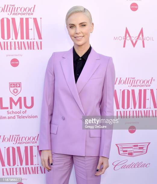 Charlize Theron arrives at The Hollywood Reporter's Annual Women in Entertainment Breakfast Gala at Milk Studios on December 11, 2019 in Hollywood,...
