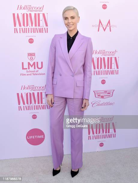 Charlize Theron arrives at The Hollywood Reporter's Annual Women in Entertainment Breakfast Gala at Milk Studios on December 11 2019 in Hollywood...