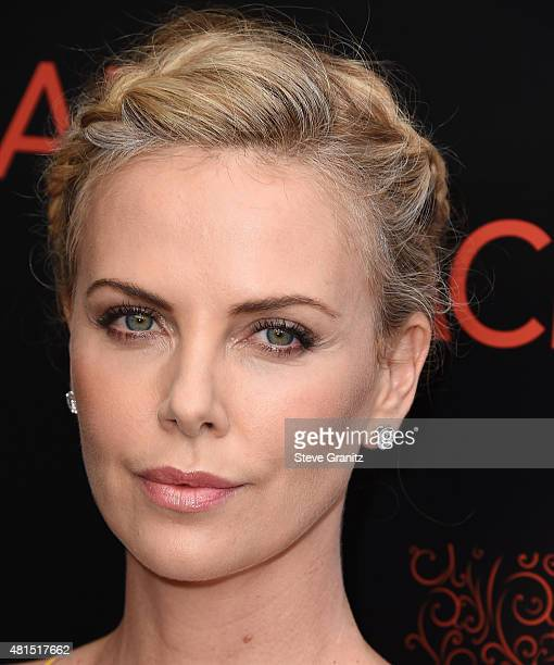 Charlize Theron arrives at the Premiere Of DIRECTV's Dark Places at Harmony Gold Theatre on July 21 2015 in Los Angeles California