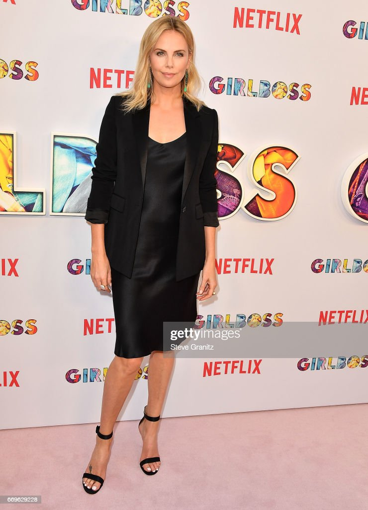 Charlize Theron arrives at the Premiere Of Netflix's 'Girlboss' at ArcLight Cinemas on April 17, 2017 in Hollywood, California.