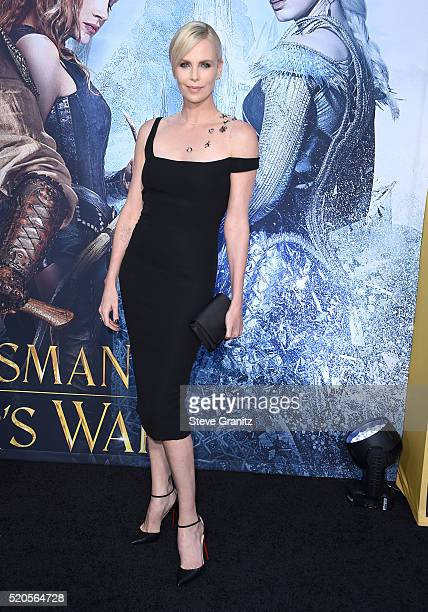 Charlize Theron arrives at the Premiere Of Universal Pictures' 'The Huntsman Winter's War' on April 11 2016 in Westwood California