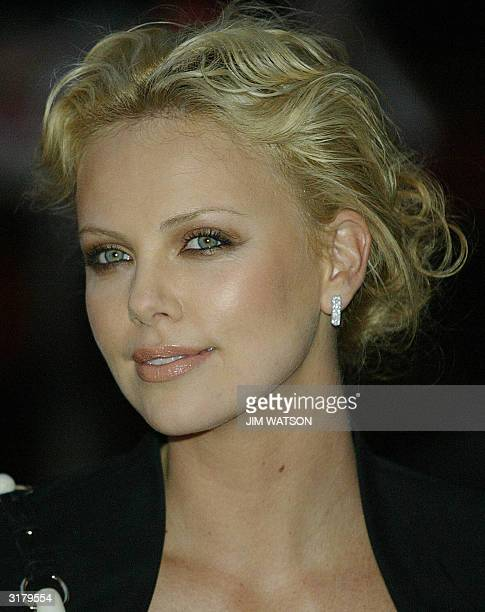 Charlize Theron arrives at the Warner Village Theatre in London for the premiere of 'Monster' where she portrayed prostitute/serial killer Aileen...