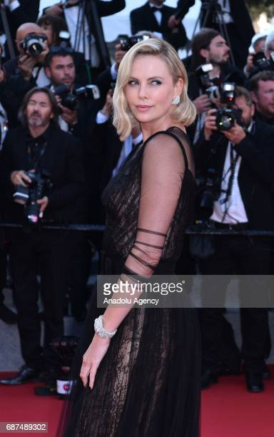 Charlize Theron arrives for the 70th Anniversary Ceremony of Cannes Film Festival in Cannes France on May 23 2017