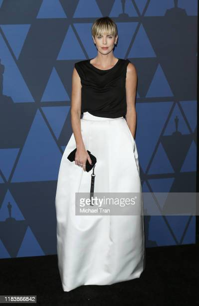 Charlize Theron arrives to the Academy of Motion Picture Arts and Sciences' 11th Annual Governors Awards held at The Ray Dolby Ballroom at Hollywood...