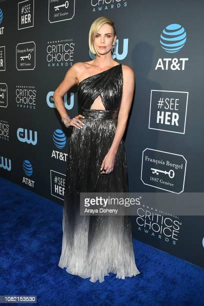 Charlize Theron at Claire Foy Accepts The #SeeHer Award At The 24th Annual Critics' Choice Awards The Barker Hanger on January 13 2019 in Santa...