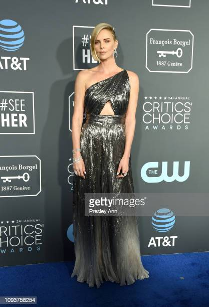 Charlize Theron at The 24th Annual Critics' Choice Awards at Barker Hangar on January 13 2019 in Santa Monica California