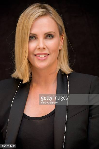 Charlize Theron at the 'Atomic Blonde' Press Conference at Universal Studios on May 19 2017 in Universal City California