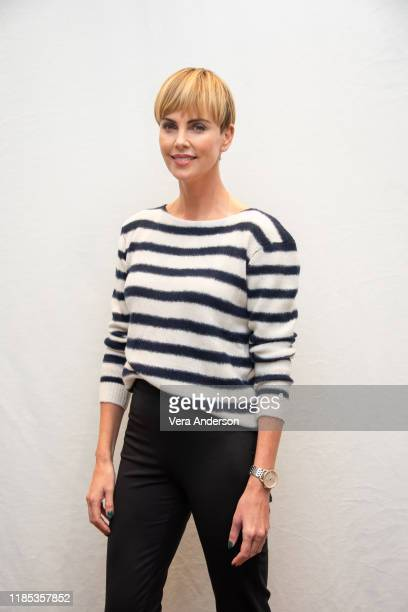Charlize Theron at the Bombshell Press Conference at the Four Seasons Hotel on November 02 2019 in Beverly Hills California